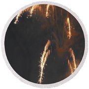 Fireworks A Different Perspective Four Round Beach Towel