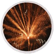 Fireworks A Different Perspective Seven Round Beach Towel