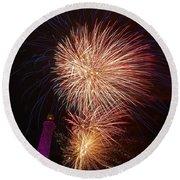 Fireworks At Maspalomas 2  Round Beach Towel