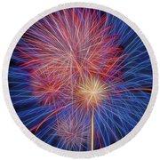 Fireworks Celebration Glow Square Round Beach Towel