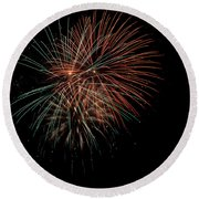 Fireworks Round Beach Towel by Christopher Holmes