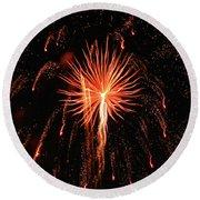 Fireworks Eighteen Round Beach Towel