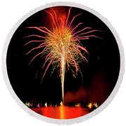Happy Birthday, United States Of America 8 Round Beach Towel