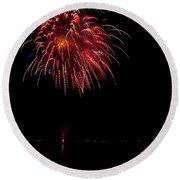 Fireworks II Round Beach Towel by Christopher Holmes