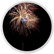 Fireworks IIi Round Beach Towel by Christopher Holmes