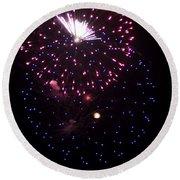 Fireworks Over Puget Sound 10 Round Beach Towel