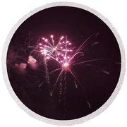 Fireworks Over Puget Sound 13 Round Beach Towel