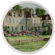 Firle Place England Round Beach Towel
