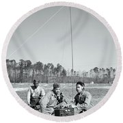 First African American United States Marines 1942 Round Beach Towel