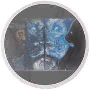 First And The Last Lion Round Beach Towel