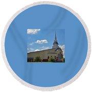 First Baptist Church - Pflugerville Texas Round Beach Towel