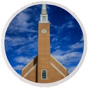 First Congregational Church Round Beach Towel