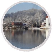 First Day Of Spring Bucks County Playhouse Round Beach Towel