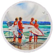 First Day Of Summer Round Beach Towel