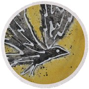 First Flight Original Painting Round Beach Towel