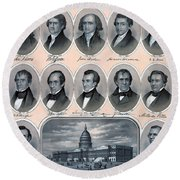 First Hundred Years Of American Presidents Round Beach Towel