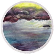 First Light At Hulihee Round Beach Towel