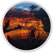 First Light - Grand Canyon Round Beach Towel