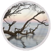 First Light - Hunting Island South Carolina Round Beach Towel