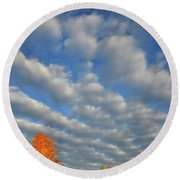First Light On Glacial Park Sugar Maples Round Beach Towel
