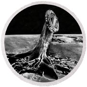 First Men On The Moon Round Beach Towel