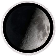 First Quarter Moon Round Beach Towel