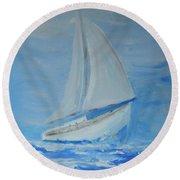 First Sail Round Beach Towel