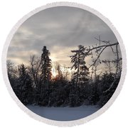 First Winter Sunrise Of 2011 Round Beach Towel