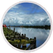 Firth Of Forth Round Beach Towel