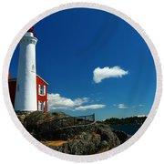 Fisgard Lighthouse Round Beach Towel