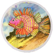 Fish #1 Round Beach Towel