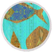 Fish And Loaves Round Beach Towel