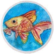 Fish Bowl Round Beach Towel