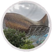 Fish By Frank Owen Gehry - Olympic Village - Barcelona Spain Round Beach Towel