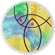 Fish II Round Beach Towel