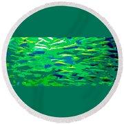 Fish In The Sea Round Beach Towel