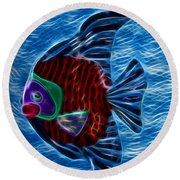 Fish In Water Round Beach Towel