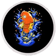 Fish Lucky Round Beach Towel