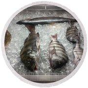 Fish Market Round Beach Towel