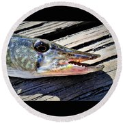 Fish Mouth Round Beach Towel