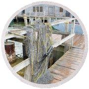 Fish Net Round Beach Towel