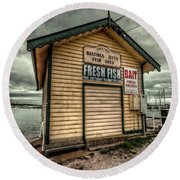 Fish Shed Round Beach Towel