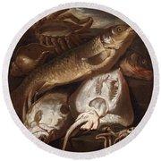Fish Still Life Round Beach Towel
