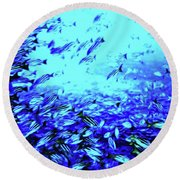 Fish Traffic Round Beach Towel