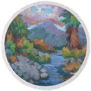 Fish Trap Indian Canyon Round Beach Towel