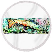 Fish Under Water Round Beach Towel