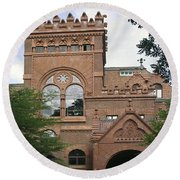 Fisher Fine Arts Library Historical Place Round Beach Towel