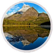 Fishercap Snowcap Reflections Round Beach Towel
