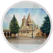 Fisherman Castle Round Beach Towel
