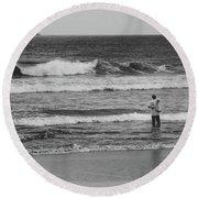 Fisherman - Costa Del Sol - El Salvador Bnw V Round Beach Towel
